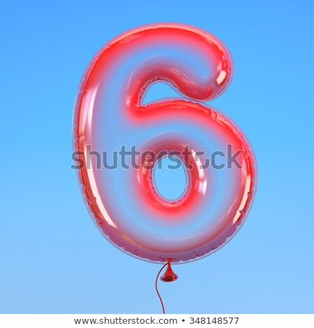 number six balloon on sky stock photo © colematt