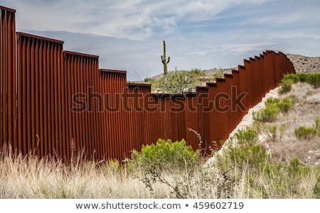 United States Wall and Immigration Stock photo © Lightsource