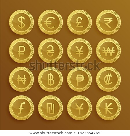 set of dolden currency icons and symbols Stock photo © SArts