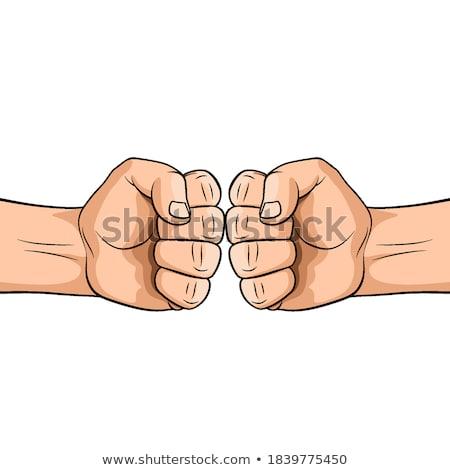 Masculina puno blanco violencia símbolo salud Foto stock © konradbak