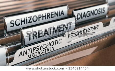 ruh · sağlığı · ilaç · psikiyatrik · tıp · doktor · reçete - stok fotoğraf © olivier_le_moal