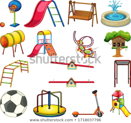 Stock fotó: Set Of Playground Park Scenes