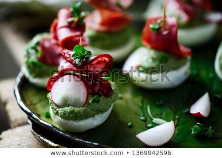 huevo · mayonesa · madera · fondo · cocina · culinario - foto stock © zoryanchik