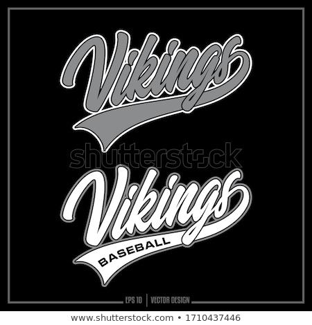 Viking Baseball Sports Mascot Stock photo © Krisdog