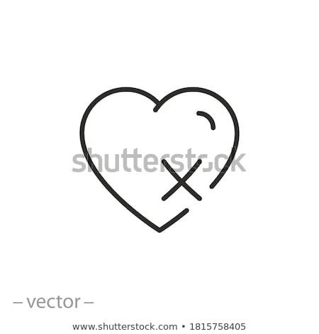 cuore · organo · illustrazione · isolato · bianco - foto d'archivio © lightsource