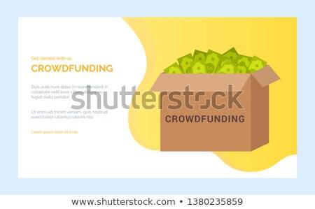 caso · dólares · dinheiro · eps10 · transparente · objetos - foto stock © robuart