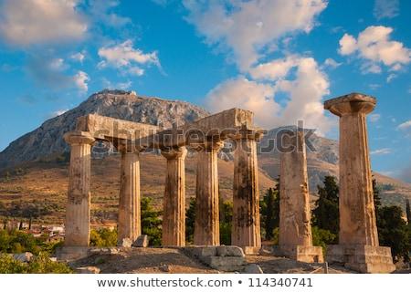 Temple anciens Grèce ruines été Voyage Photo stock © borisb17