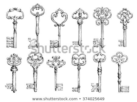 Ornamental medieval vintage keys Stock photo © netkov1