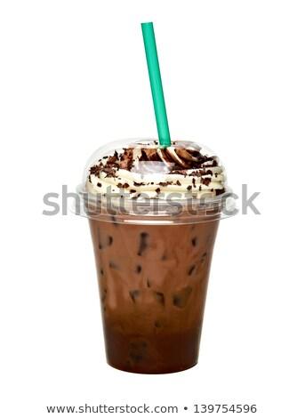 стекла · кофе · пить · вектора · соломы · холодно - Сток-фото © robuart