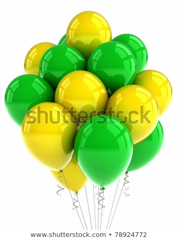 yellow and green party balloons stock photo © creisinger