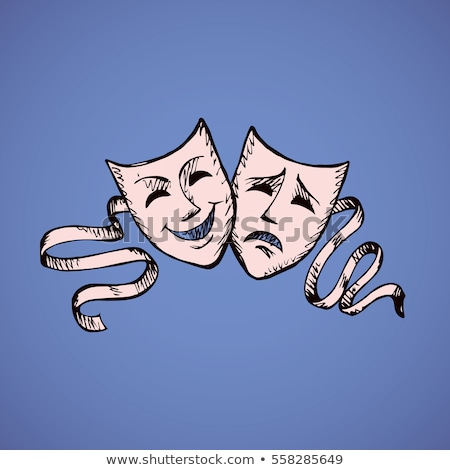 Sad Mask, Unhappy Disguise, Theater Blue Icon Stock photo © robuart