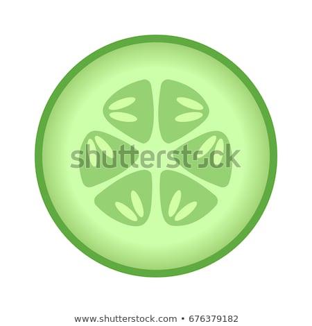 Ogórek plastry spa ikona kolor drabiny Zdjęcia stock © angelp
