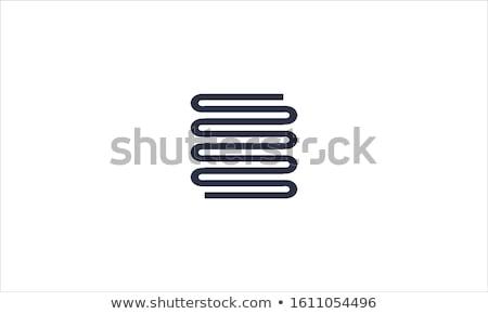 Toalha trilho ícone círculo projeto Foto stock © angelp