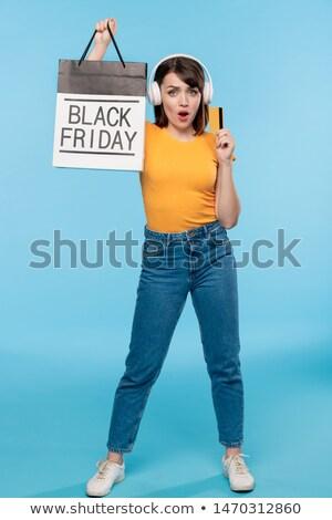 молодые современный черная пятница карт Постоянный Сток-фото © pressmaster