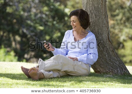Stock photo: Mobile Phone and Tree alive