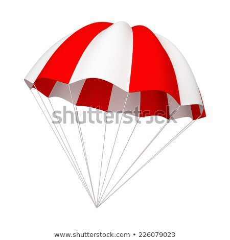 Red and white parachute Stock photo © montego