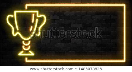 Acordare ceaşcă neon sportiv avansare fitness Imagine de stoc © Anna_leni