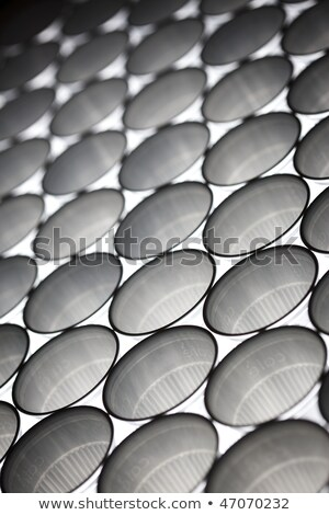 Plastic cups line-up, angular view Stock photo © lichtmeister