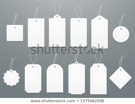 Etiket kâğıt el kadın moda alışveriş Stok fotoğraf © jomphong