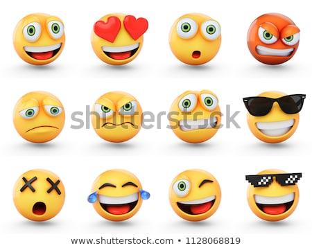 cute · glimlach · Geel · emoticon · gezicht · 3D - stockfoto © cienpies