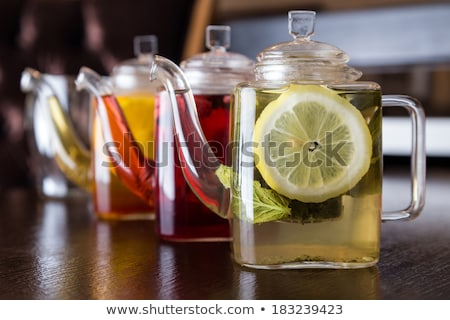 herbata · ziołowa · biały · porcelana · dania · marmuru - zdjęcia stock © karandaev