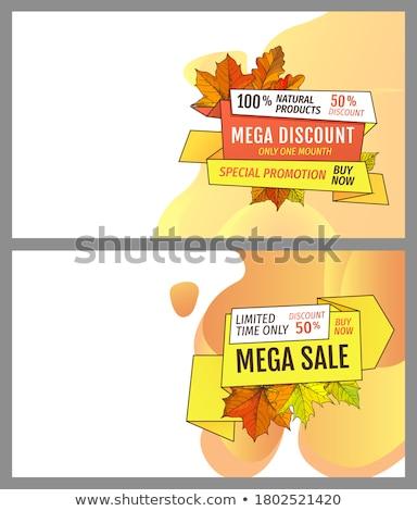 bladeren · verkoop · banner · Geel · poster · blad - stockfoto © robuart
