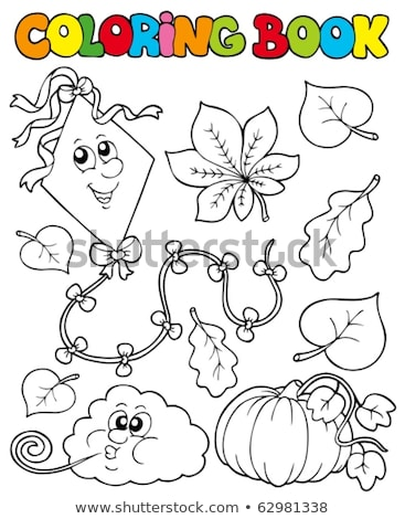 Coloring book clouds and wind theme 1 Stock photo © clairev