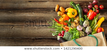 organic vegetables on wood stock photo © mythja