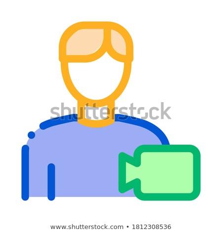 Stockfoto: Video Operator Human Talent Icon Vector Illustration