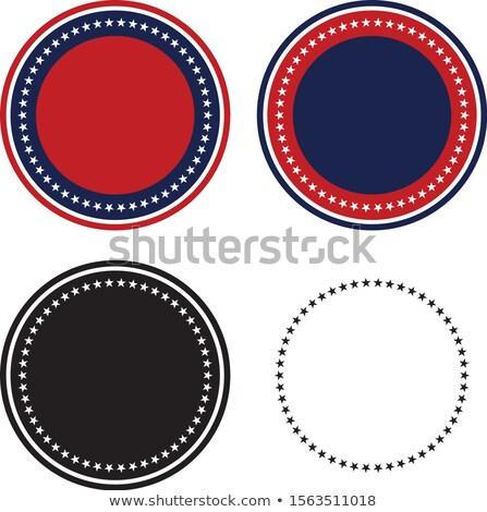Vaderlandslievend 50 sterren cirkel ingesteld geïsoleerd Stockfoto © jeff_hobrath