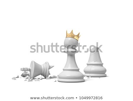 Pawn Wearing Crown Stock photo © AndreyPopov