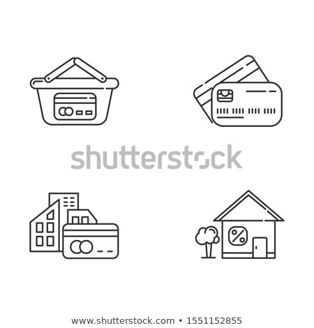 House Borrowed at Interest Credit Icon Vector Outline Illustration Stock photo © pikepicture