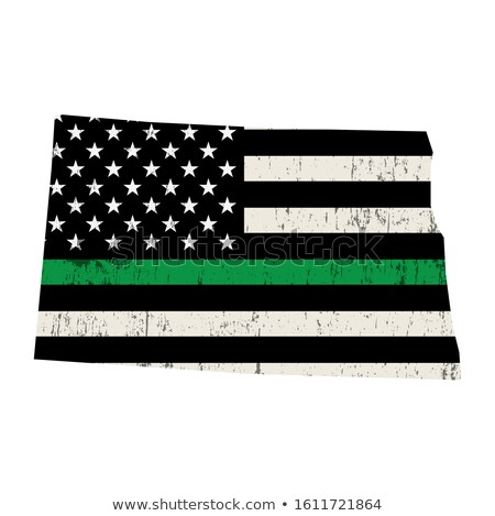 Dakota du Nord militaire soutien drapeau américain forme illustration Photo stock © enterlinedesign