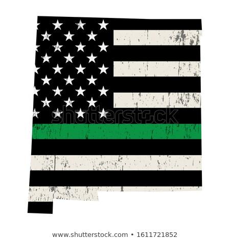 New Mexico askeri destek amerikan bayrağı örnek biçim Stok fotoğraf © enterlinedesign