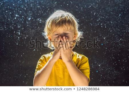 Allergia por fiú allergiás levegő fény Stock fotó © galitskaya