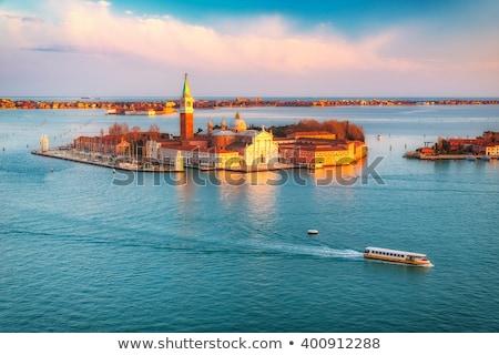 Panorâmico ilha Veneza céu água Foto stock © ShustrikS