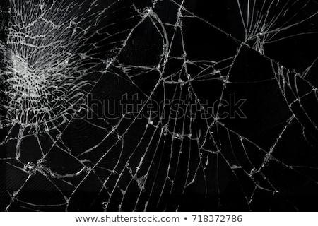 先頭 表示 ひびの入った 壊れた 携帯電話 画面 ストックフォト © boggy