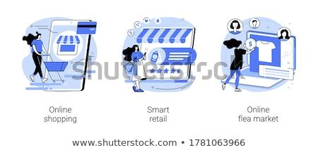 онлайн блошиный рынок используемый электроника интернет магазине Сток-фото © RAStudio