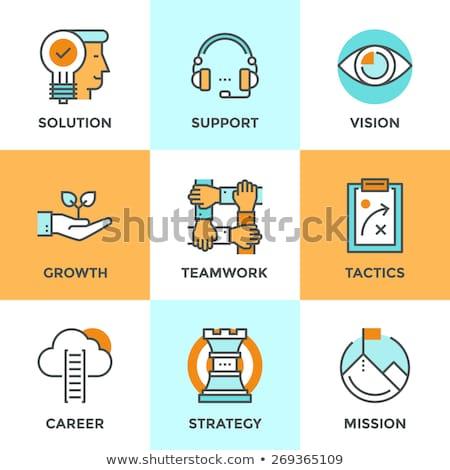Startup Presentation of Strategy of Company Set Stock photo © robuart