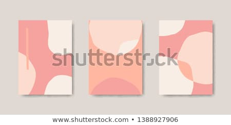 Creative art vector collage with abstract organic shapes in pastel Stock photo © ussr