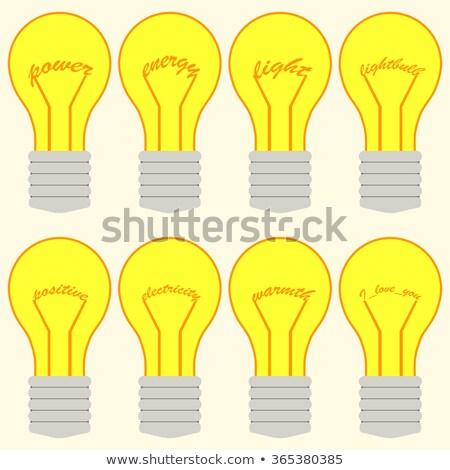 Palavra projeto brilhante faísca lâmpada ilustração Foto stock © bluering