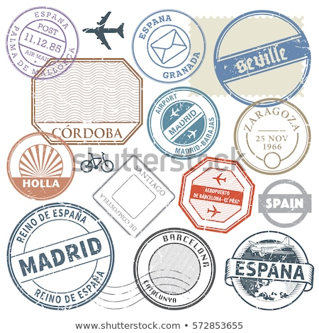 Stamp collection from Spain Stock photo © cienpies
