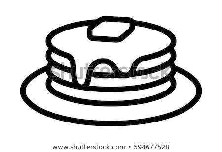 масло блюдо икона вектора иллюстрация Сток-фото © pikepicture