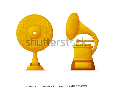 Music Awards, Vinyl Disc and Gramophone Shapes Stock photo © robuart