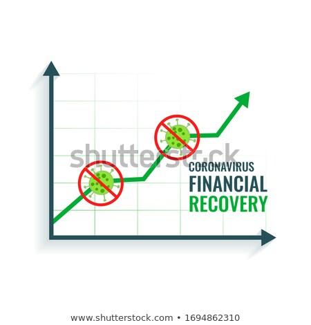 üzlet pénzügyi gyógyulás koronavírus cél grafikon Stock fotó © SArts