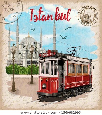 Blue Mosque in Istanbul Turkey. Vector Illustration. Stock photo © ShustrikS