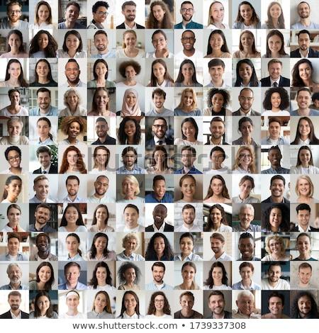 Groep verschillend zakenlieden collage portretten Stockfoto © szefei