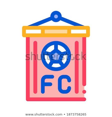 football · commande · pavillon · icône · illustration - photo stock © pikepicture