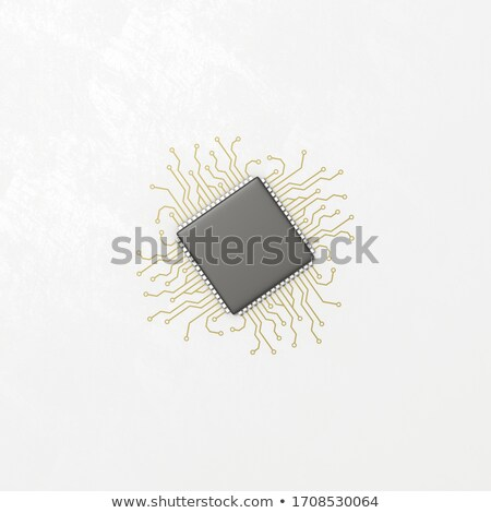 Integrated Circuit with Conductive Traces Illustration Stock photo © make