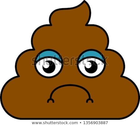 Sad, somber turd emoji vector illustration Stock photo © barsrsind